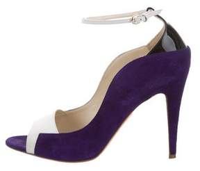 Brian Atwood Suede Peep-Toe Pumps