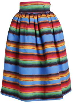 Stella Jean Printed Puffy Skirt