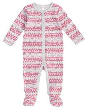 Petit Lem Baby's Thermal Fair Isle Print Footie