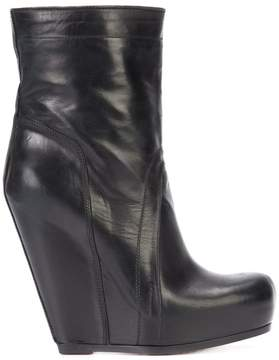 Rick Owens pull-on wedge boots