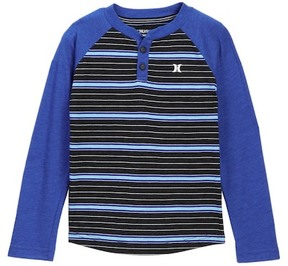 Hurley Thermal Striped Raglan Henley (Toddler Boys)