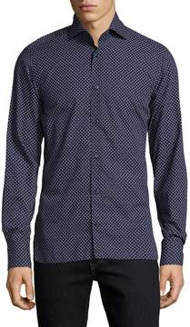 Bogner Men's Jacques Printed Dress Shirt