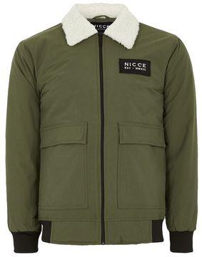 Nicce Khaki Flight Jacket