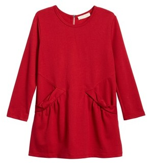 Truly Me Toddler Girl's Bow Pocket Knit Dress