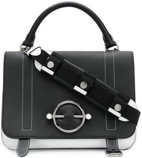J.W.Anderson black & white blue large Disc satchel
