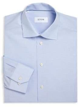 Eton Regular-Fit Micro Checked Dress Shirt