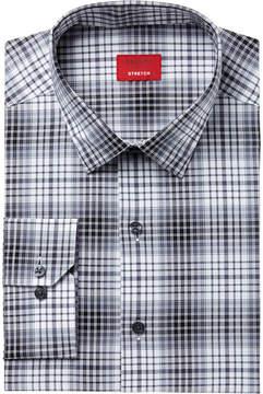 Alfani Men's Slim-Fit Stretch Tonal Optic Plaid Dress Shirt, Created for Macy's