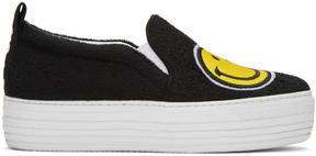 Joshua Sanders Black Smile Double Slip-On Sneakers