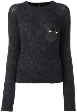 Class Roberto Cavalli embellished pocket sweater