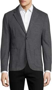 Neiman Marcus The Good Man Brand Honeycomb Melange Knit Blazer