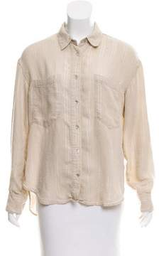Creatures of Comfort Striped Button-Up Top