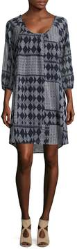 Velvet by Graham & Spencer Women's Printed Scoopneck Dress