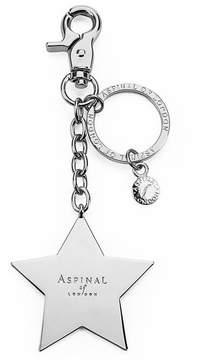Aspinal of London Silver Plated Star Handbag Charm Keyring