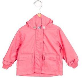 Petit Bateau Girls' Hooded Long Sleeve Raincoat