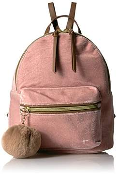 T-Shirt & Jeans Velvet Back Pack with Pom