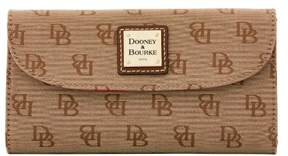 Dooney & Bourke Madison Signature Continental Clutch Wallet - AMBER - STYLE