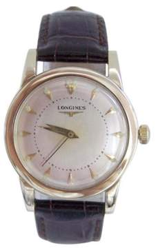 Longines 14K Yellow Gold Automatic Vintage 33mm Mens Watch