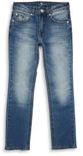 7 For All Mankind Boy's Buttoned Denim Jeans