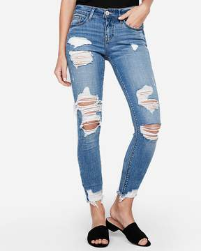 Express Mid Rise Ripped Stretch+ Performance Ankle Jean Leggings