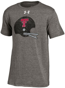 Under Armour Boys 8-20 Texas Tech Red Raiders Helmet Triblend Tee
