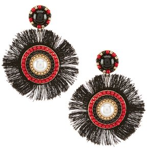 Anna & Ava Samantha Boho Burst Fringed Statement Earrings