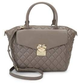 Love Moschino Heart Faux Leather Satchel