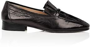 The Row Women's Pleated-Vamp Leather Loafers