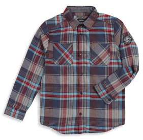 Buffalo David Bitton Boy's Plaid Sport Shirt
