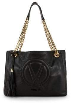 Mario Valentino Verra Leather Tote Bag