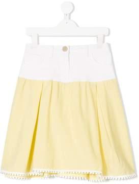 Elisabetta Franchi La Mia Bambina contrast panel skirt