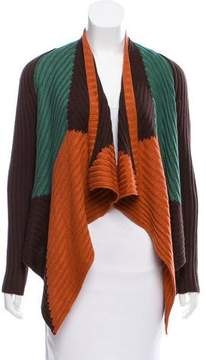 Alberto Makali Rib Knit Colorblock Cardigan