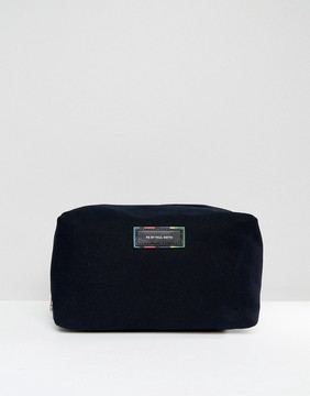 Paul Smith Canvas and Leather Toiletry bag in Black With Multi Stitching