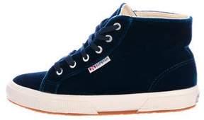 Superga Velvet High-Top Sneakers