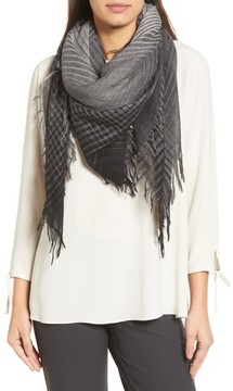 Eileen Fisher Women's Sparkle Check Wool Blend Scarf