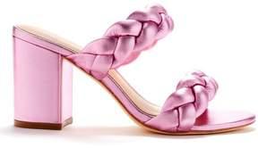 Rachel Zoe | Demi Braided Metallic Leather Sandals | 6.5 us | Pale pink