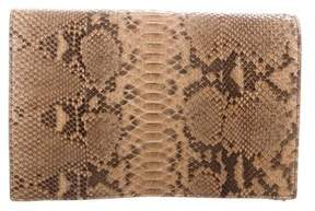 Michael Kors Chrissy Slashed Python Clutch