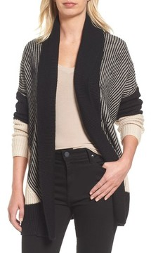 Caslon Women's Colorblocked Ribbed Cardigan