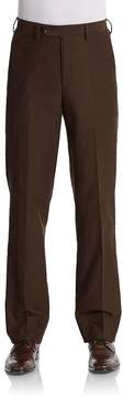 Saks Fifth Avenue BLACK Men's Bedford Flat-Front Pants
