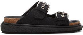 Isabel Marant Black Ledkin Slides