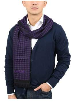 Versace It00631 Viola Purple 100% Wool Mens Scarf.