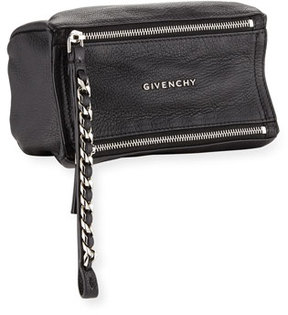 Givenchy Pandora Leather Wristlet Pouch Bag, Black