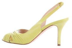 Oscar de la Renta Ruched Slingback Sandals