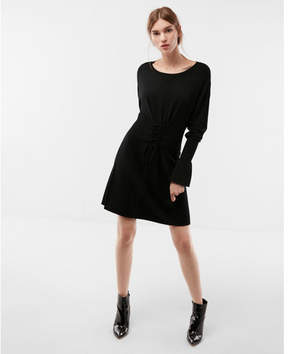 Express corset waist sweater dress