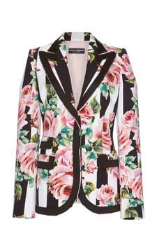 Dolce & Gabbana Rose Printed Blazer