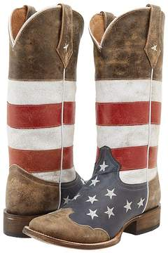 Roper American Flag Square Toe Boot Women's Boots