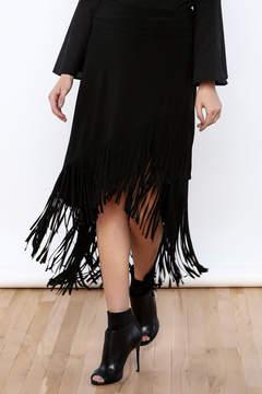 Joseph Ribkoff Fringed Skirt
