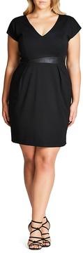 City Chic Spliced Mod Dress