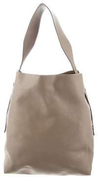 Valextra Embossed Leather Shoulder Bag
