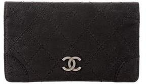 Chanel Matte Caviar Bifold Long Wallet