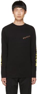 McQ Black Long Sleeve Swallow T-Shirt
